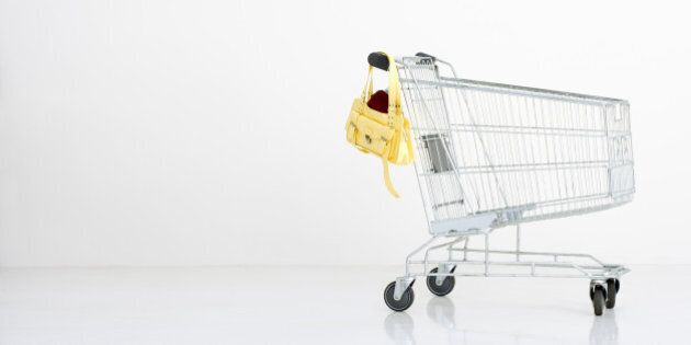 Shopping trolley with a