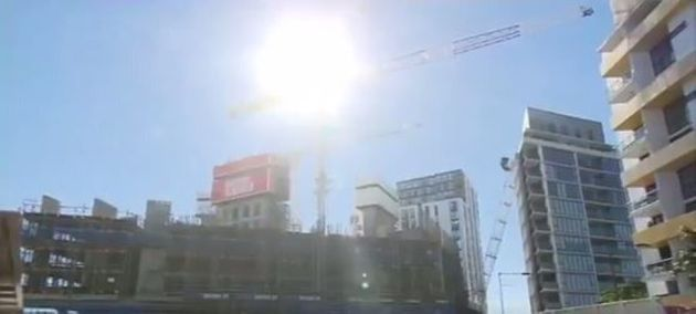 Three Injured And Units Evacuated As Crane Collapses In