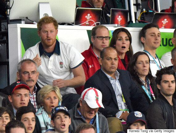 Prince Harry And Prince William Face Off During England Vs Wales RWC