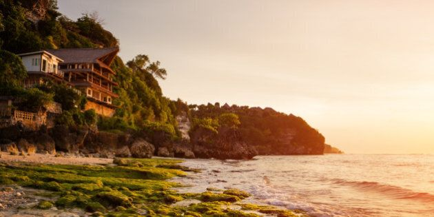 ocean sunset, Bingin, Bali, Indonesia