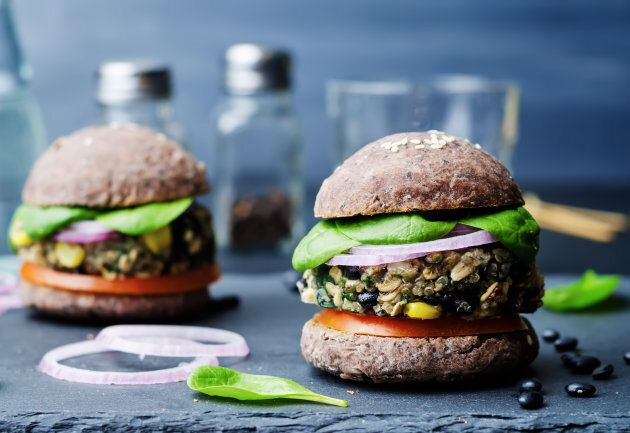 To get your burger fix, opt for a veggie patty and use a wholemeal bun.