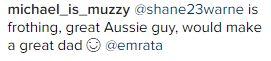 The World Wants Em Ratajkowski To Give Shane Warne A
