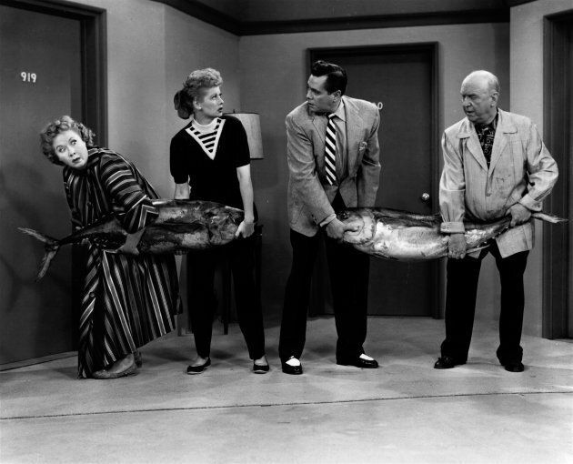 Vivian Vance, Lucille Ball, Desi Arnaz and William Frawley starring in 'I Love Lucy'.