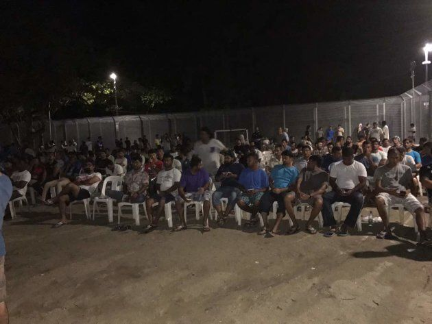 Refugees and asylum seekers held a vigil for Hamed in Delta compound inside the detention centre Monday