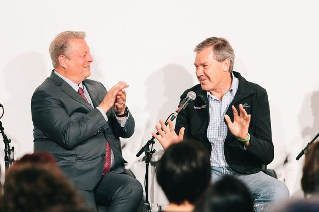 Al Gore speaks to Intrepid co-founder Darrell