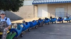 This Man Built A Dog Train So He Could Take Homeless Dogs On