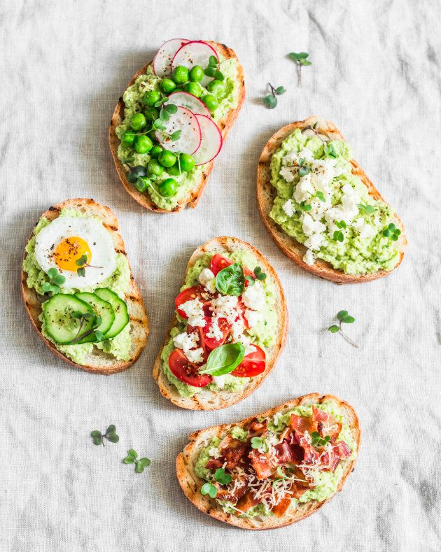 To satisfy a salt craving, make avocado toast with a pinch of