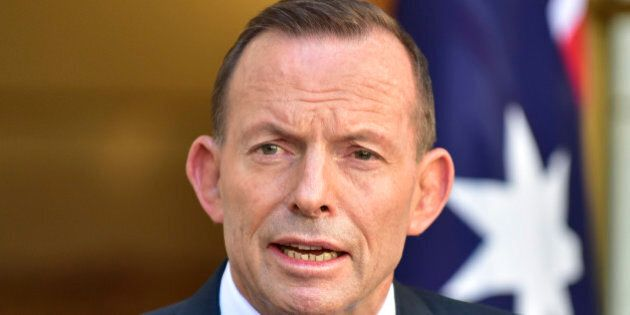Outgoing Australian Prime Minister Tony Abbott speaks during a press conference at Parliament House in...