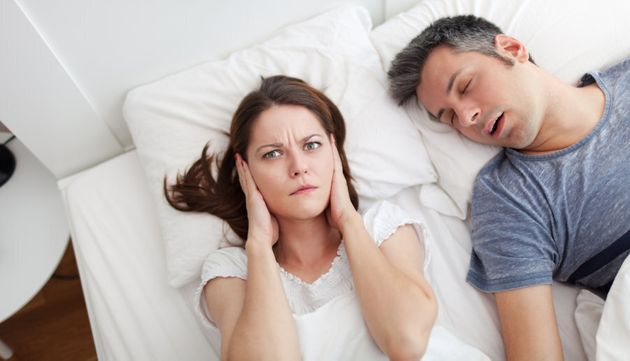 Snoring can be a sign of sleep