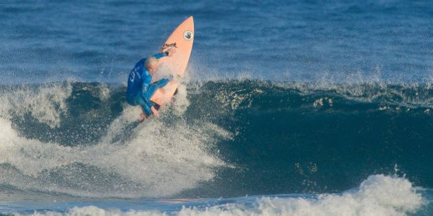 CASCAIS, PORTUGAL - SEPTEMBER 27:  Tatiana Weston-Webb surfing in semi-finals of the Cascais Women's Pro on September 27, 2015 in Cascais, Portugal.  (Photo by Thomas Lodin/World Surf League via Getty Images)