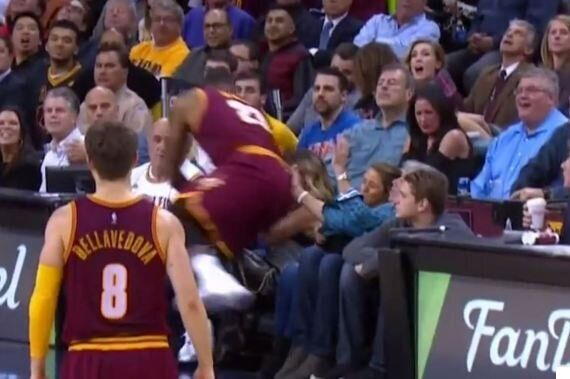 LeBron James Accidentally Injures Jason Day's Wife Ellie In Bizarre Basketball Sideline