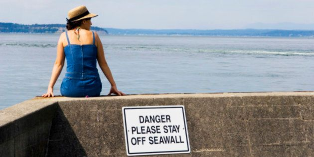 Lady is oblivious - rules just don't apply to some people. Just sitting by the
