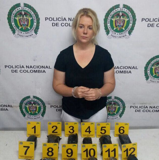Cassie was arrested on April 12 at Bogota international airport after security found 5.8kg of cocaine...