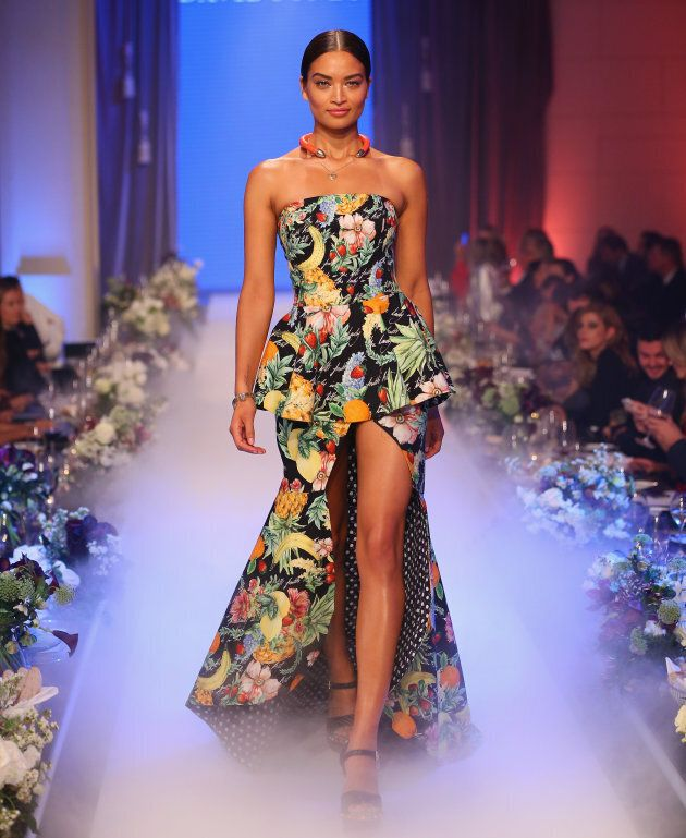 Shanina Shaik showcases designs by Camilla during the David Jones Spring Summer 2017 Collections