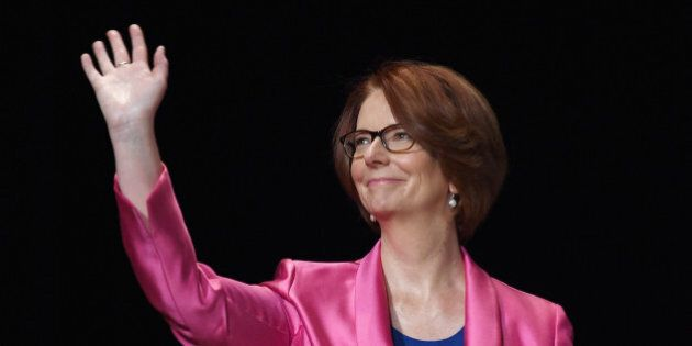 NEW YORK, NY - SEPTEMBER 29:  Former Australian Prime Minister Julia Gillard joins Glamour 'The Power Of An Educated Girl' panel at The Apollo Theater on September 29, 2015 in New York City.  (Photo by Dimitrios Kambouris/Getty Images for Glamour)