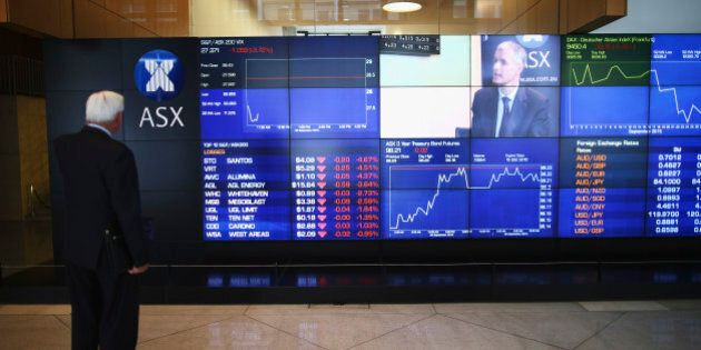 SYDNEY, AUSTRALIA - SEPTEMBER 30: A general view of market boards at the ASX Exchange Centre on September...