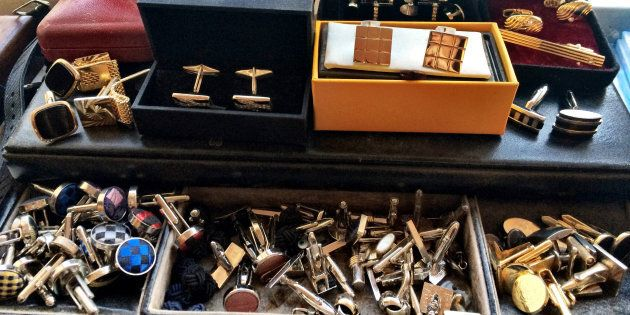 Now that's a cuff link collection.