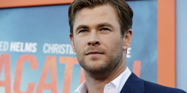 Cast member Chris Hemsworth poses during the premiere of the
