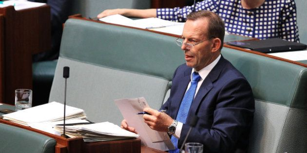CANBERRA, AUSTRALIA - DECEMBER 03: Tony Abbott during House of Representatives question time at Parliament...