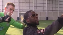 Kevin Hart's Hilarious Penalty Shoot-Out Against Man City 'Brother'