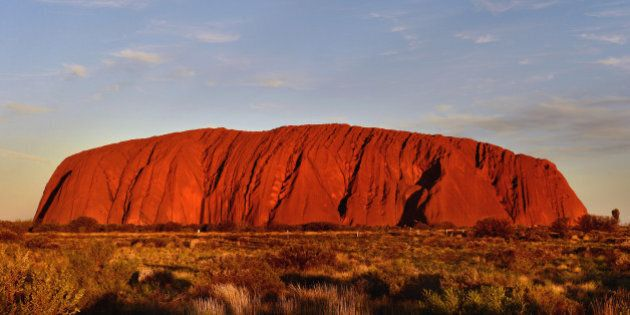 The sun sets at Uluru (Ayer's Rock) in the Northern Territory, Australia PRESS ASSOCIATION Photo. Picture...