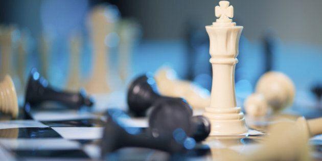 Chess queen among taken