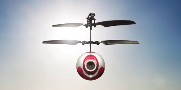 Camera-Drone hovering in