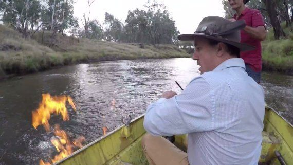 Greens MP Has Set A River On Fire To Raise Awareness Of Dangers Of