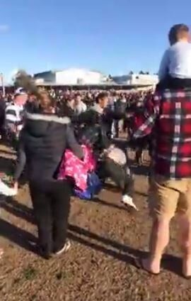 Shocking Scenes At Junior Footy Brawl Where Umpire 'Fled For His