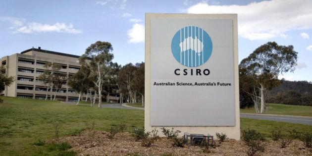 AUSTRALIA - SEPTEMBER 18: A sign marks the entrance to CSIRO headquarters, the Australian government's...
