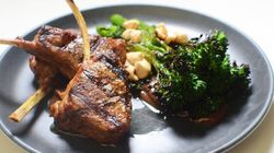 Luke Mangan Shows How To Make His Moroccan Lamb Cutlets With Broccolini And