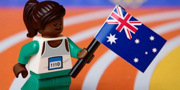 UNSPECIFIED - AUGUST 26: In this handout provided by LEGO Australia, a LEGO recreation of Cathy Freeman...