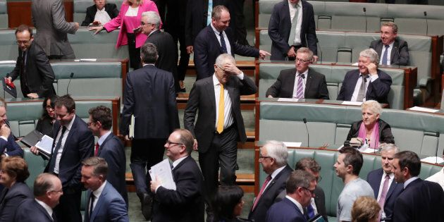 Malcolm Turnbull is not having a great day, with this photo coming after his government lost a vote
