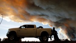 Canada Wildfire Intensifies, Helped By Hot, Dry