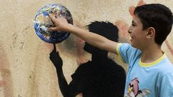 A Street Artist Leaves His Mark On Jordan's Refugee Camps With A Special Tribute To