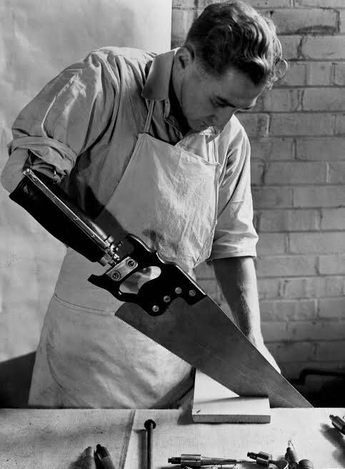 The short-back-and-sides is still the most dominant male hairstyle today. This photo of a man with an artificial arm was taken in 1920.