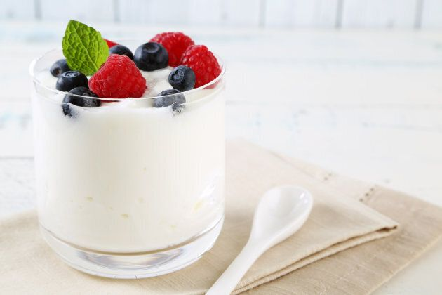 Look for yoghurts containing 'active' or 'live' cultures to get a probiotic
