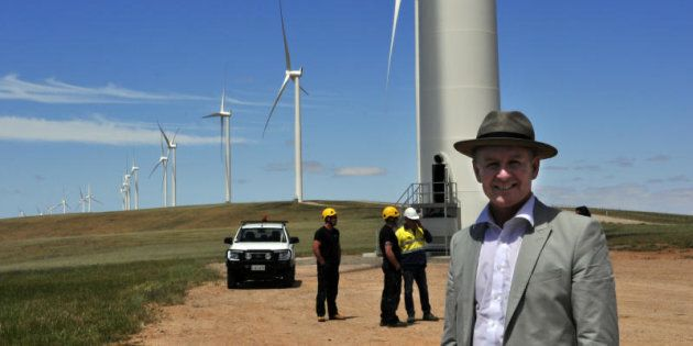 Premier Jay Weatherill at the Snowtown Stage 2 wind farm opening. November