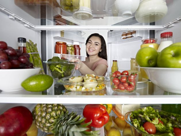 Fill your fridge with healthy foods and not junk food to resist