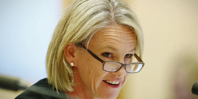 Senator Fiona Nash during a Senate estimates hearing at Parliament House in Canberra on Monday 29 May...