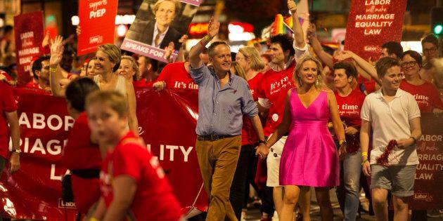 Labor leader Bill Shorten at the 2016 Mardi
