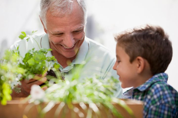 Gardening with kids is a great way to teach kids about food and where it comes from.