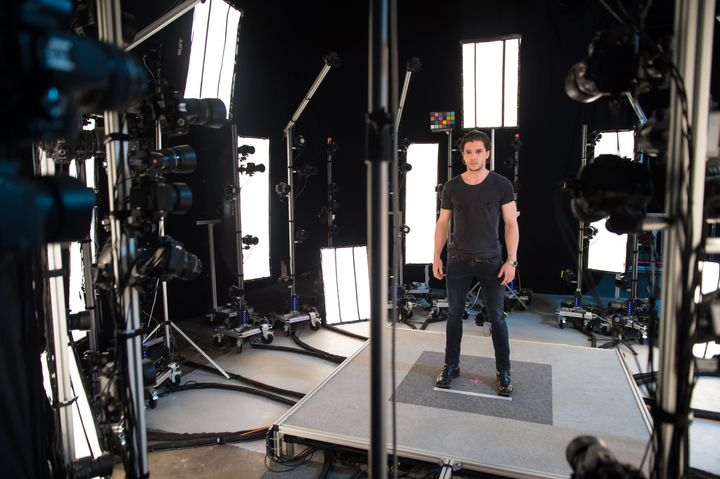 Kit Harrington being scanned for his role as Call of Duty Infinite Warfare's villain, Admiral Salen Kotch.