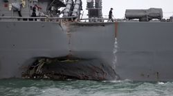 10 Sailors Missing After U.S. Warship Collides With Oil Tanker Off