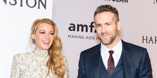 NEW YORK, NY - FEBRUARY 10:  Actors Blake Lively and Ryan Reynolds attend the 2016 amfAR New York Gala at Cipriani Wall Street on February 10, 2016 in New York City.  (Photo by Gilbert Carrasquillo/FilmMagic)