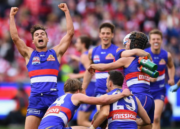 Luke Dahlhaus of the Bulldogs will probably not go to bed early