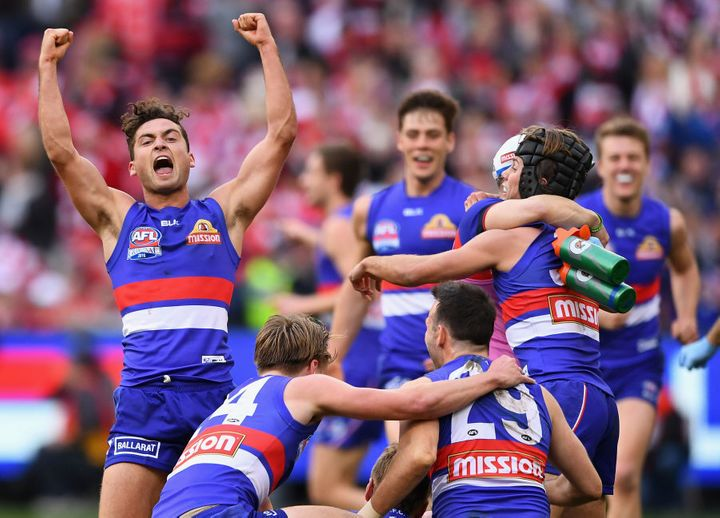 Luke Dahlhaus of the Bulldogs will probably not go to bed early tonight.