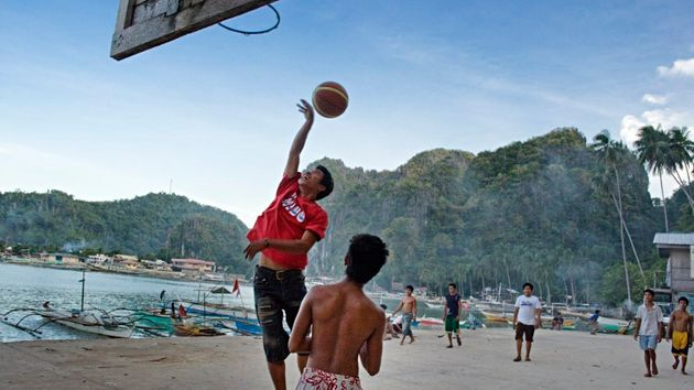Basketball will be played on the half-courts and cement slabs across the