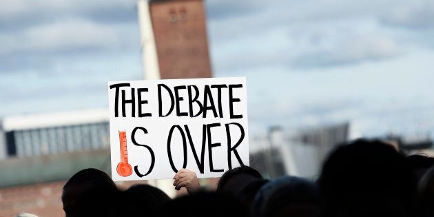 The science (on the fact we're causing global warming) is settled, but sadly, the (false) debate is not over.