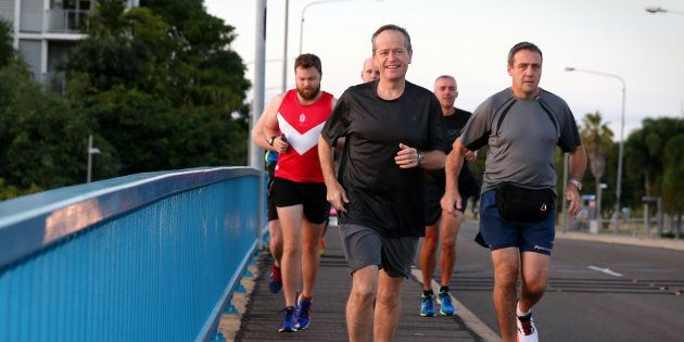 Bill Shorten out for a jog
